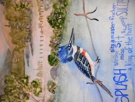 Kingfisher Over Lake Todd