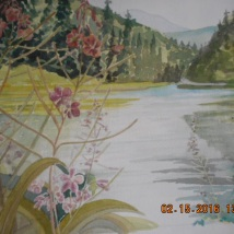 W.I.P.-On The Way to Lilloet, BC 2014-painted 2016