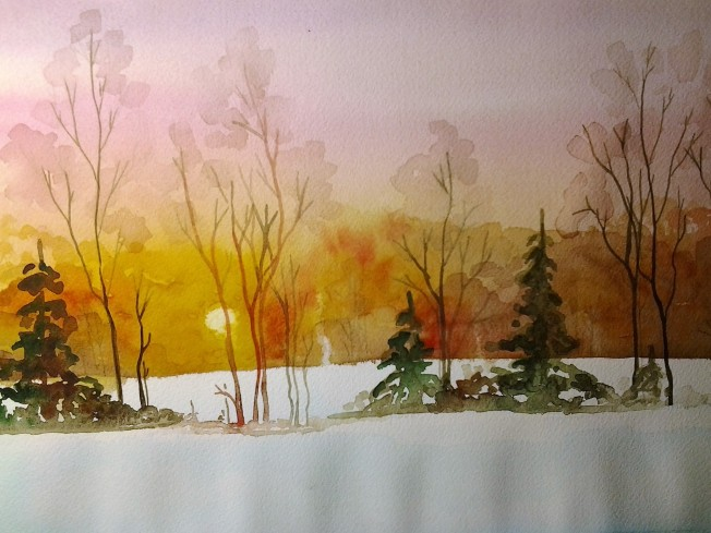 Teaching inmates at the Sullivan County Jail-Study of a Winter Scene