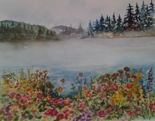 WIP- almost done just want to tone down the aqua behind the flowers a bit...then heading off to Cindy Vezina as a thank you for all the great worh she has done over the years!