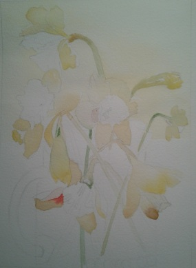 """10"""" x 14"""" W.I.P. the underpainting"""