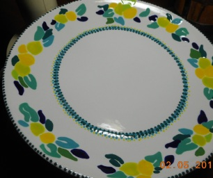 Finshed! Lemon Plate Take One!