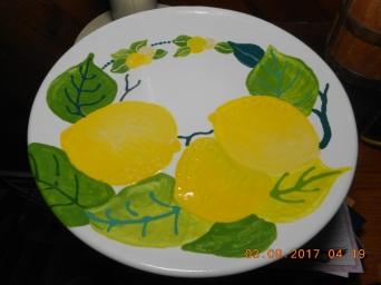 Here is lemon plate take two...I like the first one better.