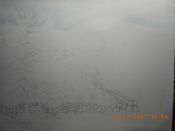 W.I.P.Very begining...sky in...next uo back mountains..