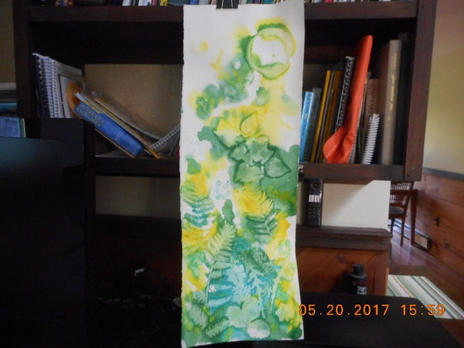 W.I.P. this is a pour I did today using lemon yelloe hue, Manganese Blue, Hookers Green and Winsor Yellow