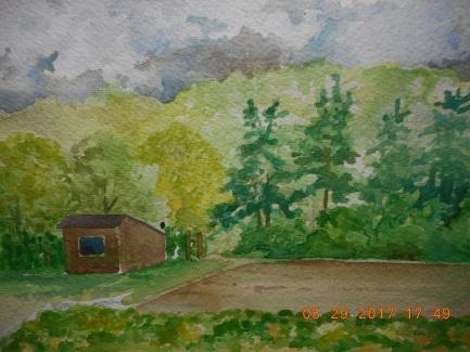 "W.I.P 5""x 7"" Cedar Circle Farm, Esat Thetford VT"
