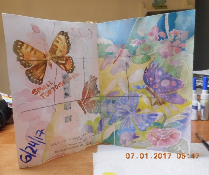 Practicing butteflies gettign ready for S.T.E.A.M. class next week :)