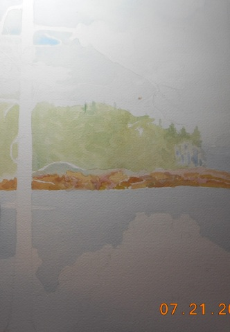 W.I.P. a view off the park loop road,Schoodic Point- by where the dirt road juts off to climb the penninsula