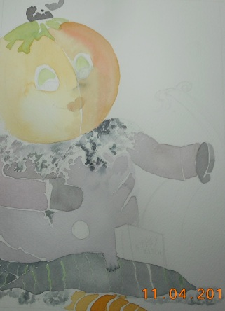 W.I.P. Weird Pumpkin Doll